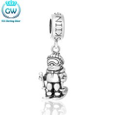 2016 Winter Jewelry 925 Pulseira De Berloque Sking Charm 925 Silver For DIY Jewelry Making Brand Gw Jewellery S457-15