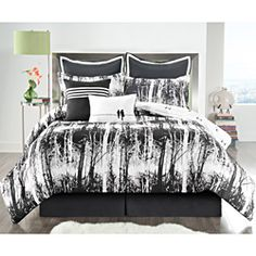 @Overstock - Your bedroom will look elegant and inviting with this black and white reversible comforter set. The pretty design features a detailed woods scene, and the 8-piece set includes a comforter, bedskirt, two shams, two euro shams, and two decorative pillows.http://www.overstock.com/Bedding-Bath/Woodland-8-piece-Reversible-Comforter-Set/6910471/product.html?CID=214117 $104.99 (queen)