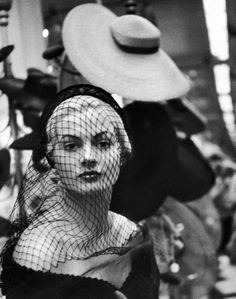 "In 1951 Miss Sweden, Anita Ekberg came to New York to buy hats…  Shot by Lisa Larsen, for LIFE  Anita E. went on to star in several films by Fellini, most memorably La Dolce Vita where she did nice things in the Trevi Fountain…  Ekberg's take: ""It was I who made Fellini famous, not the other way around.""  Anita is 78 today!"
