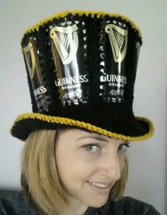 Beer can crochet hat Fishlipsthemadhatter on facebook