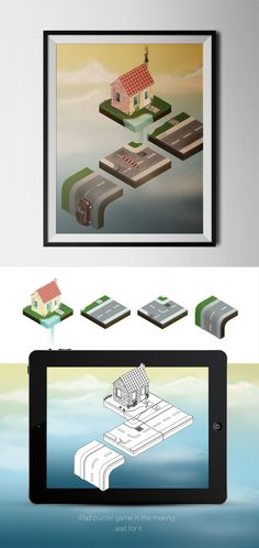 This is concept art for a isometric puzzle game.