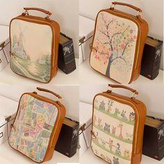 New Retro Korean Style College Wind Multifunctional Backpack Shoulder Bag J2828 | eBay