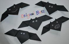 Origami Bats Halloween craft for kids