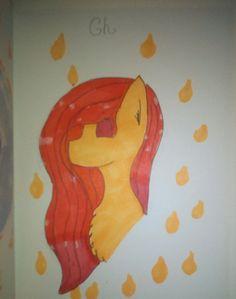 Główka mojej ponysonki :3 #ponysona #rysunek #art