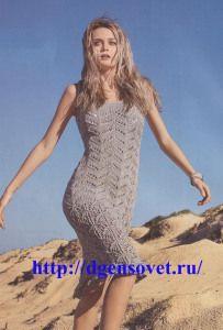Платье с ажурным узором 1