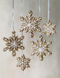 EDIBLE ORNAMENTS: Sugar & Spice Snowflakes