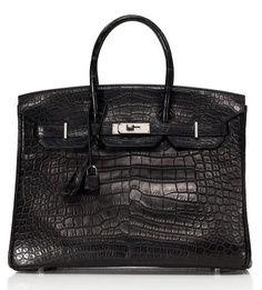 Hermes black crocodile birkin