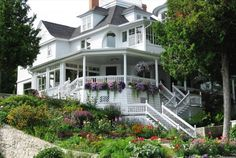 My Favorite House on Mackinac Island. . . .You MUST see the flowers in late August :)