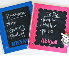 Impress your friends and show off your creativity with these back to school DIY ideas. Make your own personalized pencils, notebooks, organizers and more. Primer Spray Paint, Spray Paint Wood, Diy Back To School, School School, Binder Cover Templates, Washi Tape Crafts, Diy Crafts, Sharpie Paint Pens, Personalized Pencils