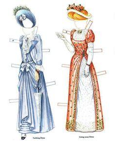 Victorian Bride and Her Trousseau Paper Doll: Jessamine (mini) by Brenda Sneathen Mattox, Fancy Ephemera (4 of 14)