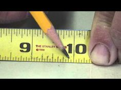 How to read a tape measure teaches you what all the markings are for on the tape measure and how to use them. This essential to woodworking. Ruler Measurements, Tools Hardware, Household Chores, Wood Tools, Woodworking Videos, Tape Measure, Graphic Organizers, Tool Box, It Works
