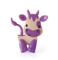 Hape Cow Mini-mals Cow Bamboo Play Figure This eco-friendly bamboo buddy is sized for small hands and big imaginations. Legs  heads are adjustable and removeable. Collect them all for your own little bamboo f http://www.MightGet.com/january-2017-12/hape-cow.asp