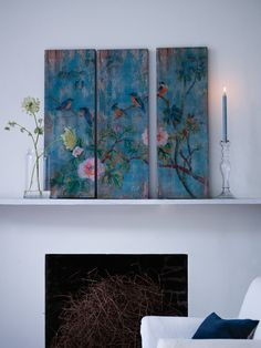 Bird and Flowers Wooden Wall Panels from cox and cox well this isn't storage but a creative art piece if you paint Wooden Wall Panels, Wooden Wall Art, Wooden Bird, Wooden Plaques, Cuadros Diy, Interior Decorating, Interior Design, Decorating Ideas, Decor Ideas