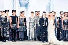 It's the end of the world as we know it, and Karl feels fine. #CHANEL www.thecoveteur.com/chanel_haute_couture_show