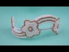 Faça você mesma: tiara com flores de pérolas - YouTube
