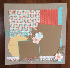 Scrapbook page class www.heartfullyyours.blogspot.com Carole Bryson Demonstrator - Stampin Up UK