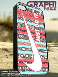 Nike aztec red just do it   iPhone 4/4s/5/5c/5s Case by Graphiniez, $12.75
