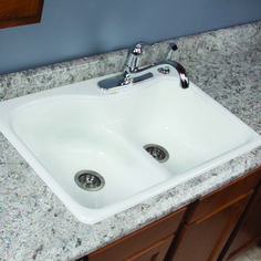 Designed with thoughtful details, the Tuscany 9\'\' Double-Bowl ...
