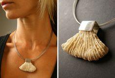 FREE Shipping Coral, pendant, Silver 925, white Coral,  Statement, New -  UNIQUE- Handmade von JewellryWithSoul auf Etsy