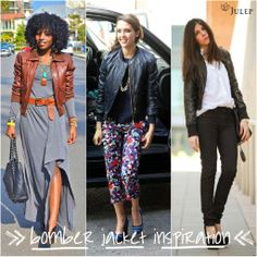 Loving the bomber jacket look! Julep Maven, Cool Bomber Jackets, Holiday Looks, Spring 2014, My Wardrobe, Style Guides, Dress To Impress, Plus Size Fashion, Rock