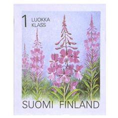 Postimerkki: Maakuntakukat - Maitohorsma | Suomen postimerkit Edible Flowers, Small Gardens, Postage Stamps, Finland, Flora, Landscape, Flower Stamp, Plants, Alaska