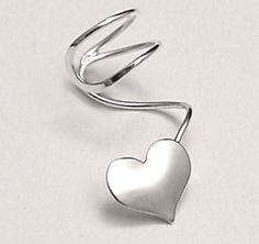 HEART Sterling Silver EAR CUFF by SunnySkiesStudio on Etsy, $24.95
