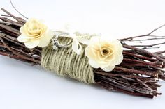 Rustic Twig Ring Bearer Pillow FREE SHIPPING. $28.00, via Etsy.