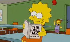 Lisa Simpson reading Sylvia Plath.