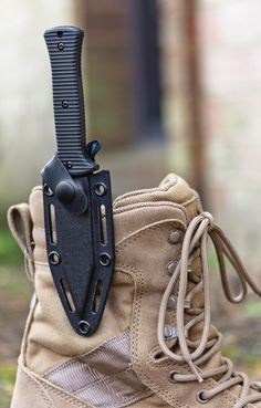 Zero Tolerance (Model fixed blade boot knife with sheath. Major dork for this, but that's just cool. Tactical Survival, Tactical Knives, Survival Knife, Tactical Gear, Zombie Survival Gear, Tactical Clothing, Survival Tools, Kydex, Cool Knives