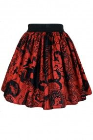Red Steampunk Inspired Skirt