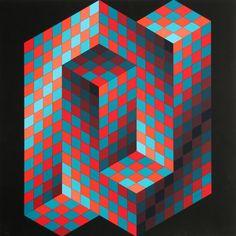 Victor Vasarely, Gestalt 4, 1970. Serigraph. Via Rogallery