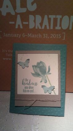Stampin' Up!, Sale A Bration 2015, Lotus Blossom, Mary Ellen Byler, www.maryellen.stampinup.net