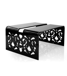 lace coffee table in noir - Inside75 Table Basse