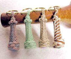 Braided lighthouse key fobs