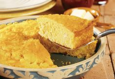 Cheddar cheese soup and shredded Cheddar cheese combine to make this cornbread especially cheesy and good.