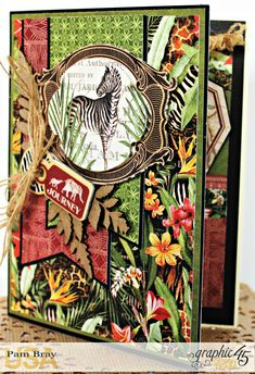 Journey Card, Safari Adventure Collection by Pam Bray, Product by Graphic 45