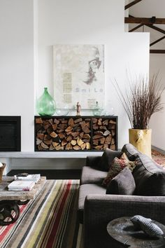 When Stacks Become Style: 10 Rooms with Firewood as Decor