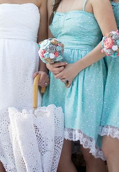 Free Patterns! Country Chic Bridesmaid'€™s dresses and Bride dress.