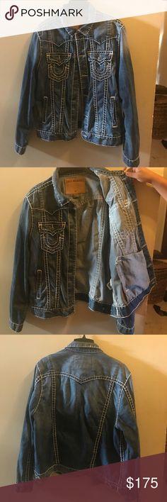 True religion jean jacket True religion jean jacket in good condition medium wash True Religion Jackets & Coats Jean Jackets