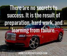 There are no secrets to success. It is the result of preparation, hard work, and learning from failure. Secret To Success, The Secret, Minding My Own Business, Free Training, Earn Money Online, Make Sense, Hard Work, Qoutes, Entrepreneur