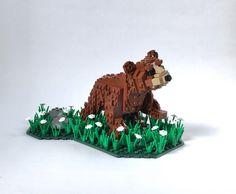 Bear Cub by Miro Dudas #LEGO #MOC #diorama #animal #bear #creature #nature