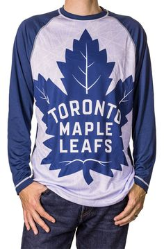 Find items like NHL Big Logo Long Sleeve Rash Guard Performance Shirts - Toronto Maple Leafs - XL at What on Earth. Stand out in the crowd with one of these officially licensed long sleeve shirts with full print logo front. M-XXL. New Jersey Devils, Sports Models, Toronto Maple Leafs, Print Logo, Rash Guard, Graphic Sweatshirt, T Shirt, Nhl, Sportswear