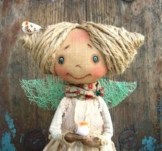 Collectible handmade dolls.  Fair Masters - handmade Spring-red (as a reserve).  Handmade.