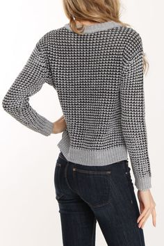 Two-Tone Sweater In Gray Combo