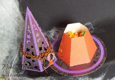 Beth's witch hat open to show the inside.  Orange Licorice Trendy Twine.  Twine It Up! with Trendy Twine