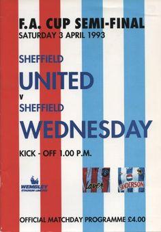 SHEFFIELD UNITED V SHEFFIELD WEDNESDAY 1993 (F.A. CUP SEMI-FINAL) FOOTBALL PROGRAMME