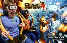 "Six Flags Fiesta Texas' ""Drop of Doom VR"" on the Scream towerA 360-degree virtual reality experience that coincides with the ride using the Samsung Gear VR headset. The feature is slated to open July 14 and will initially be available to riders without additional charges. Photo: Courtesy"