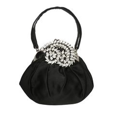 1930's Jeweled Plume Evening Bag for Saks Fifth Ave. | From a collection of rare vintage handbags and purses at http://www.1stdibs.com/fashion/accessories/handbags-purses/