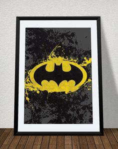 Batman Splatter Poster Print Superhero Kids by TheCuttingEdgeShop, $6.00