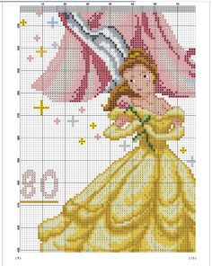 Height Chart, Princesas Disney, Le Point, Cross Stitch Patterns, Cartoons, Couture, Disney Princess, Disney Characters, Cross Stitch Embroidery